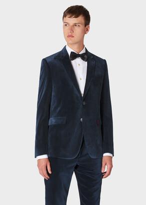 The Kensington - Men's Slim-Fit Dark Blue Velvet Blazer