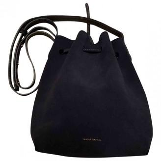 Mansur Gavriel Bucket Navy Suede Handbags