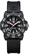 Luminox Navy SEAL Colormark 38mm Unisex Quartz watch with Black dial featuring LLT light Technology 38 millimeters Carbon Compound case and Black PU Strap XS.7051