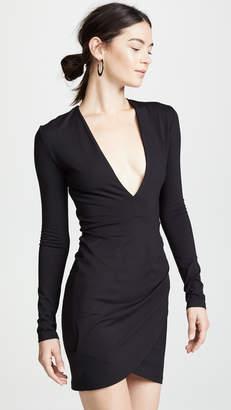 Susana Monaco Plunge Neck Mini Dress