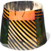 Marni Printed Horn Cuff - Green
