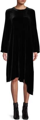 Eileen Fisher Velvet Asymmetric Hem Dress