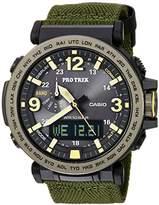 Casio Men's 'PRO TREK' Quartz Resin and Cloth Casual Watch