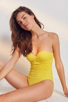 Out From Under Micro-Ruched Strapless One-Piece Swimsuit