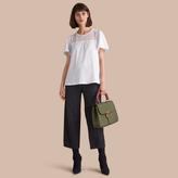 Burberry Lace Panel Cotton T-shirt