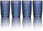Mikasa Italian Countryside Set of 4 Blue Highball Glasses