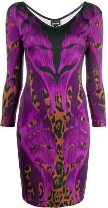Just Cavalli botanical leopard print dress