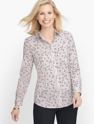 Talbots Perfect Shirt - Dotted Leaves