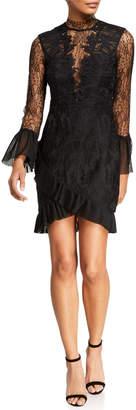 Bardot Wistonia High-Neck Lace Cocktail Dress