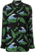 Zoe Karssen wave and leaf print shirt
