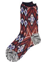 Vivienne Westwood Ikat Socks Red One Size