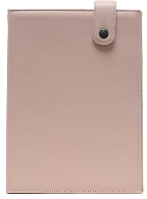 K'ai&Vrosi Leta Pastel Pink Leather Organizer With Handloomed Leather Flap Closure