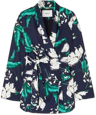 Erdem Stanford Floral-print Satin-twill Jacket