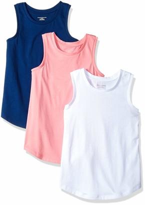 Amazon Essentials Girls' 3-pack Tank T-Shirt