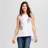 ISANI for Target Women's Embroidered Floral Woven Tank