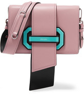Prada Ribbon Leather Shoulder Bag - Pink