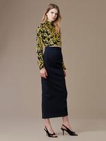 Diane von Furstenberg Long-Sleeve Raglan High Neck Blouse