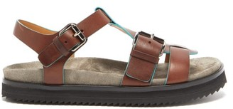 Church's Britney Buckle-strap Leather Sandals - Womens - Dark Brown
