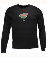 Reebok Men's Minnesota Wild Logo Reflect Long Sleeve T-Shirt