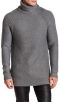Helmut Lang Wool Turtleneck Longline Pullover