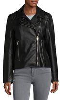 Lauren Ralph Lauren Asymmetrical Leather Moto Jacket