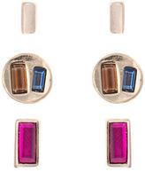 Kensie Three-Piece Geometric Stud Earrings Set