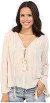 Brigitte Bailey Iris Long Sleeve Top with Tassels