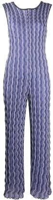 M Missoni Wave-Print Knitted Jumpsuit