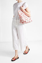 RED Valentino Flamingo Print Tote with Leather