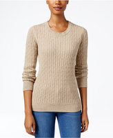 Karen Scott Marled Cable-Knit Sweater, Only at Macy's