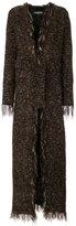 Balmain long tweed coat