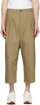 Comme des Garçons Homme Beige Weather Softly Raised Trousers