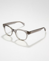 Oliver Peoples Afton Rounded Fashion Glasses, Gray