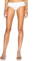 Norma Kamali Super Low Rise Bikini Bill Poly Bottom in White.