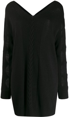 Moschino cur-out sleeve dress