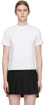 Thom Browne White Side Slit T-Shirt