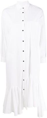 Enfold Asymmetric-Hem Shirt Dress