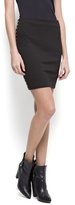 MANGO Studded knit skirt