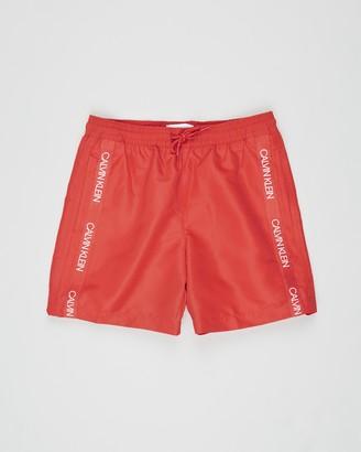 Calvin Klein Boy's Red Boardshorts - Medium Drawstring Shorts - Teens - Size 8-10 YRS at The Iconic