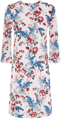 Erdem Floral Silk Shift Dress