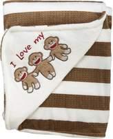 Baby Starters Sock Monkey Plush Blanket