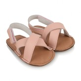 Fendi FendiBaby Girls Pink Leather Crossover Sandals