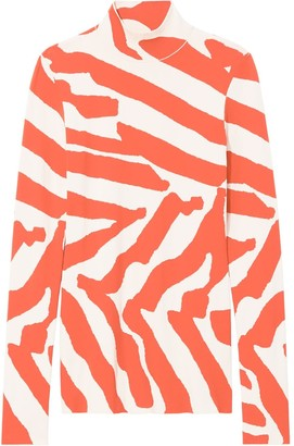 Proenza Schouler Printed Turtle Neck Knitted Top