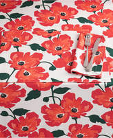 """Kate Spade Painted Poppies 84"""" Tablecloth"""