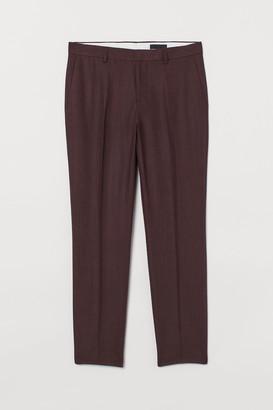 H&M Slim Fit Linen Suit Pants