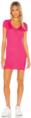 superdown Mariella Ribbed Mini Dress