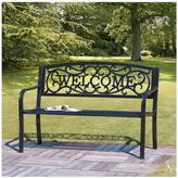 Very Large Iron Welcome Bench