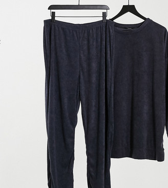 Yours flannel co-ord trackies in slate grey