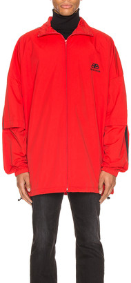 Balenciaga Double Sleeve Zip Up in Masai Red | FWRD