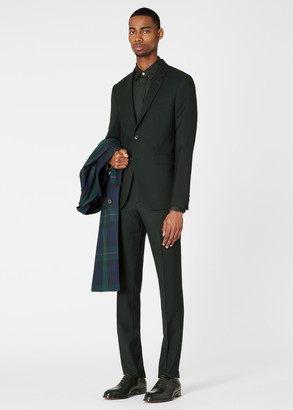 Paul Smith The Kensington - Men's Slim-Fit Dark Green 'A Suit To Travel In'